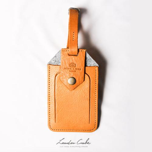 icleaXbag|皮革行李吊牌票卡匣