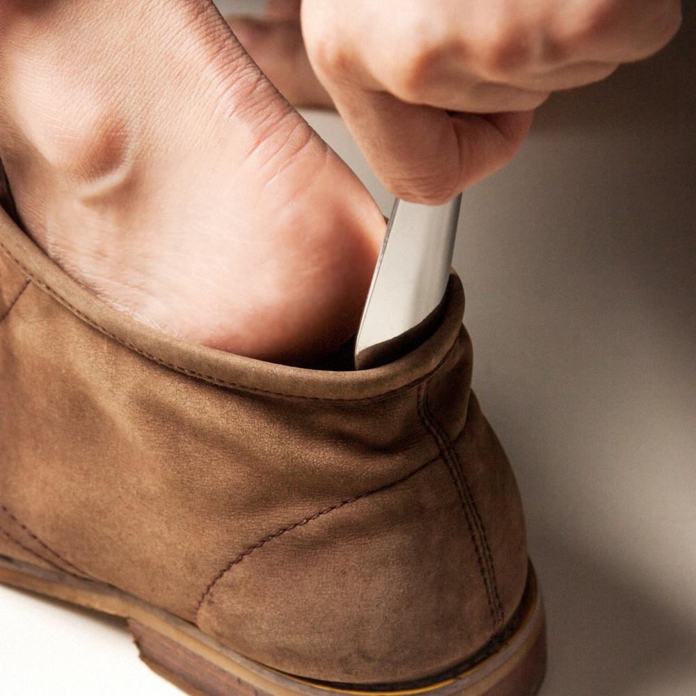 icleaXbag|經典皮革迷你白鋼鞋拔