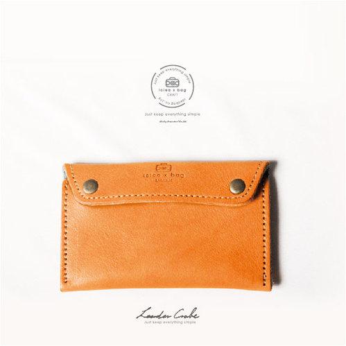 icleaXbag 經典皮革零錢卡片包