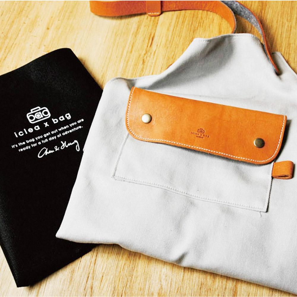 icleaXbag|手作皮革工作圍裙(單寧藍)