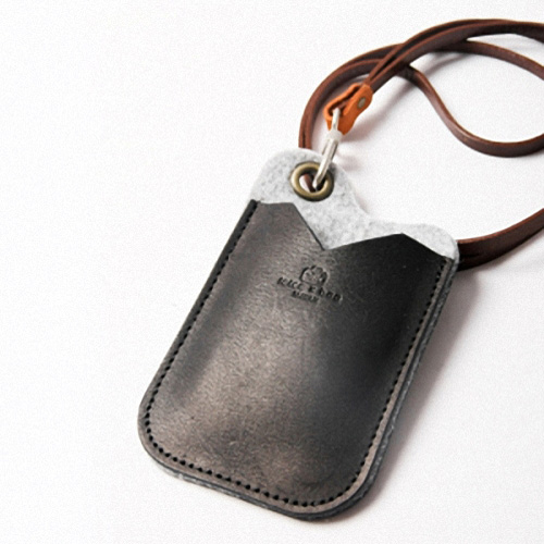 icleaXbag|手作皮革證件夾(黑色)