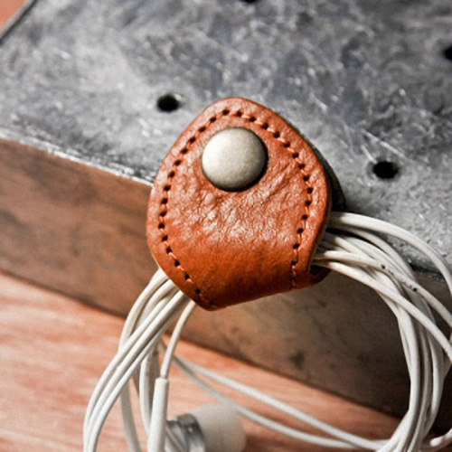 icleaXbag|手作皮革收線小幫手(咖啡色)
