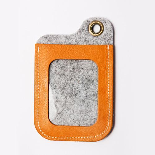 icleaXbag|手作皮革證件夾(棕色)