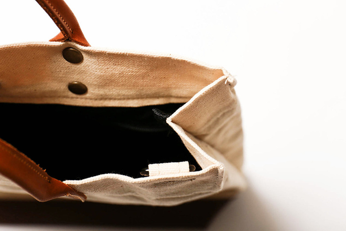 icleaXbag|簡約L號真皮帆布購物袋手提包 含背帶