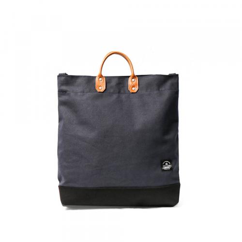 icleaXbag|簡約L號真皮帆布購物袋手提包