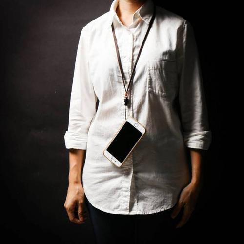 icleaXbag 牛皮手機掛繩 0.5CM版