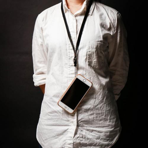 icleaXbag 牛皮手機掛繩 1CM版