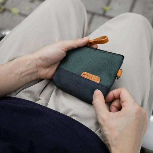 icleaXbag 拚色零錢鑰匙包