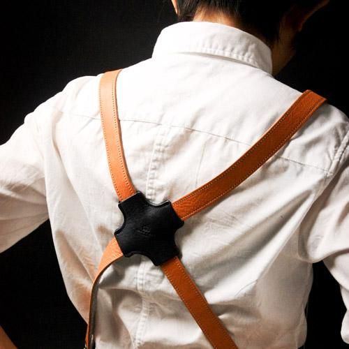 icleaXbag|手作皮革工作圍裙 (棕色皮革肩掛式)