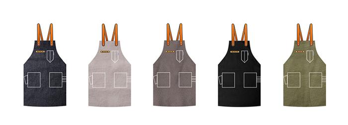(複製)icleaXbag|手作皮革工作圍裙 (棕色皮革肩掛式)