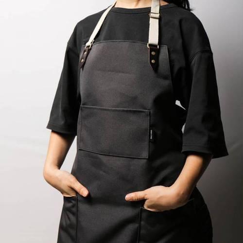 icleaXbag 手作皮革工作圍裙 (織帶脖掛式)
