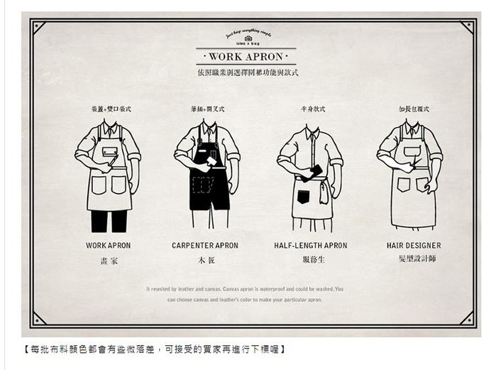 icleaXbag|變形兩用穿工作圍裙 (經典脖掛)