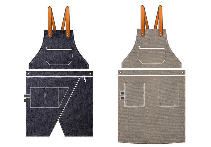 icleaXbag|變形兩用穿工作圍裙 (肩掛式)