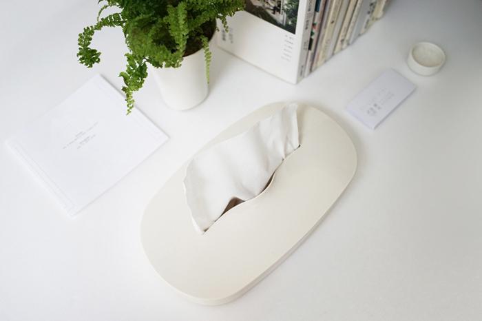 GeckoDesign|伸縮面紙盒(奶油灰)