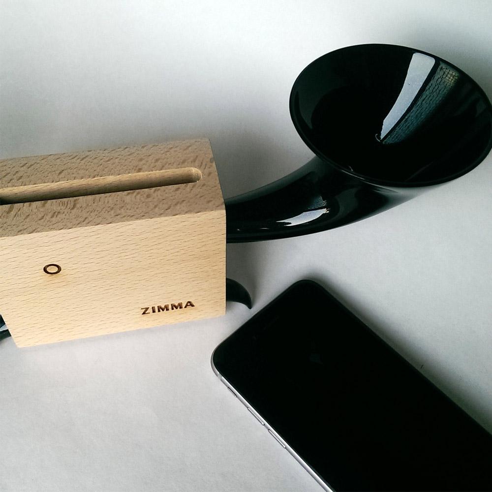 GeckoDesign|ZIMMA 山毛櫸擴音器for iPhone 系列/Android部分機型(原木/暗黑潮)