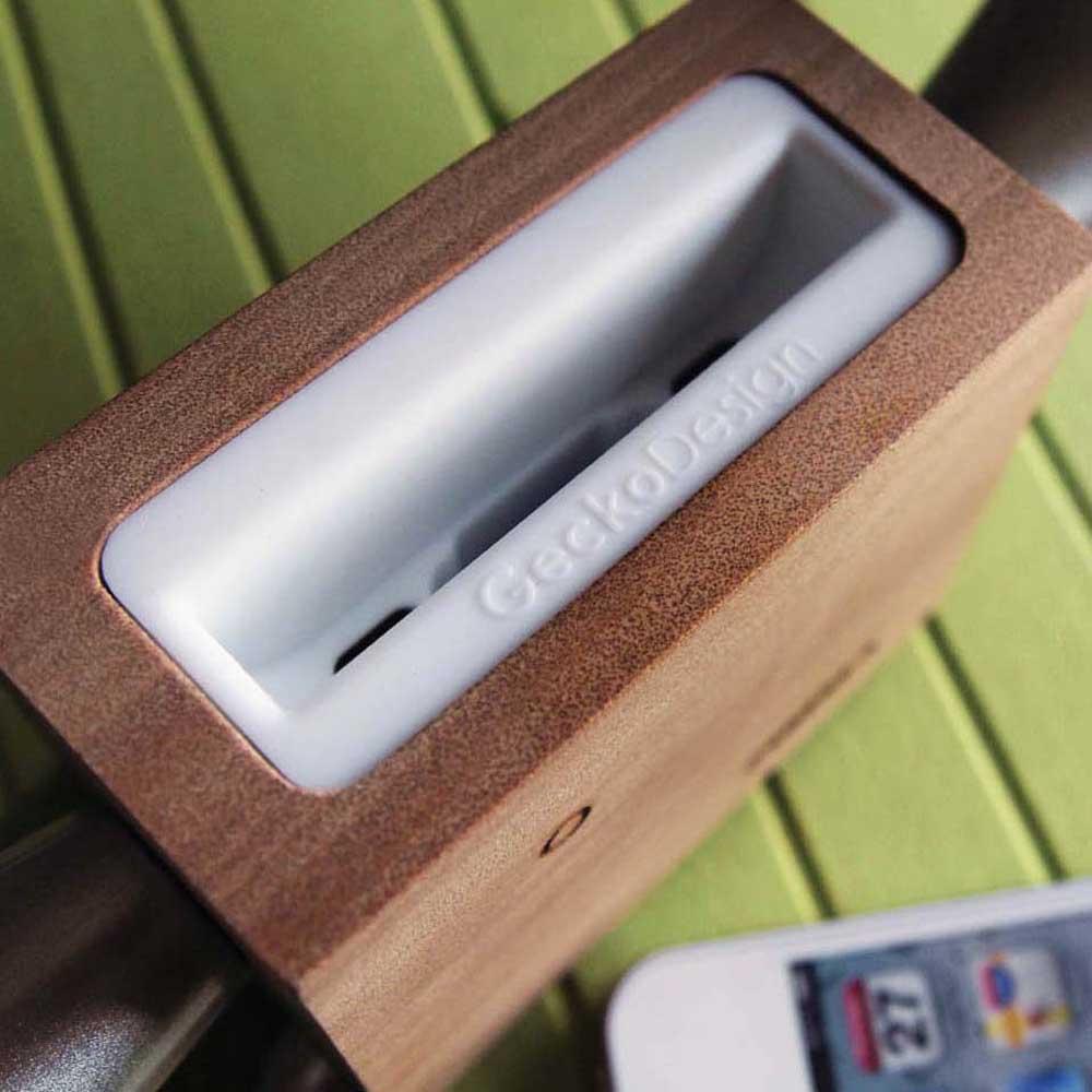 GeckoDesign ZIMMA 山毛櫸擴音器 for iPhoneSE /  i5系列 / i4系列 / iPod Touch 5(原木/暗黑潮)