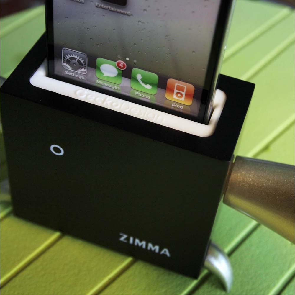 GeckoDesign|ZIMMA 山毛櫸擴音器  for iPhoneSE /  i5系列 / i4系列 / iPod Touch 5(黑/銀)