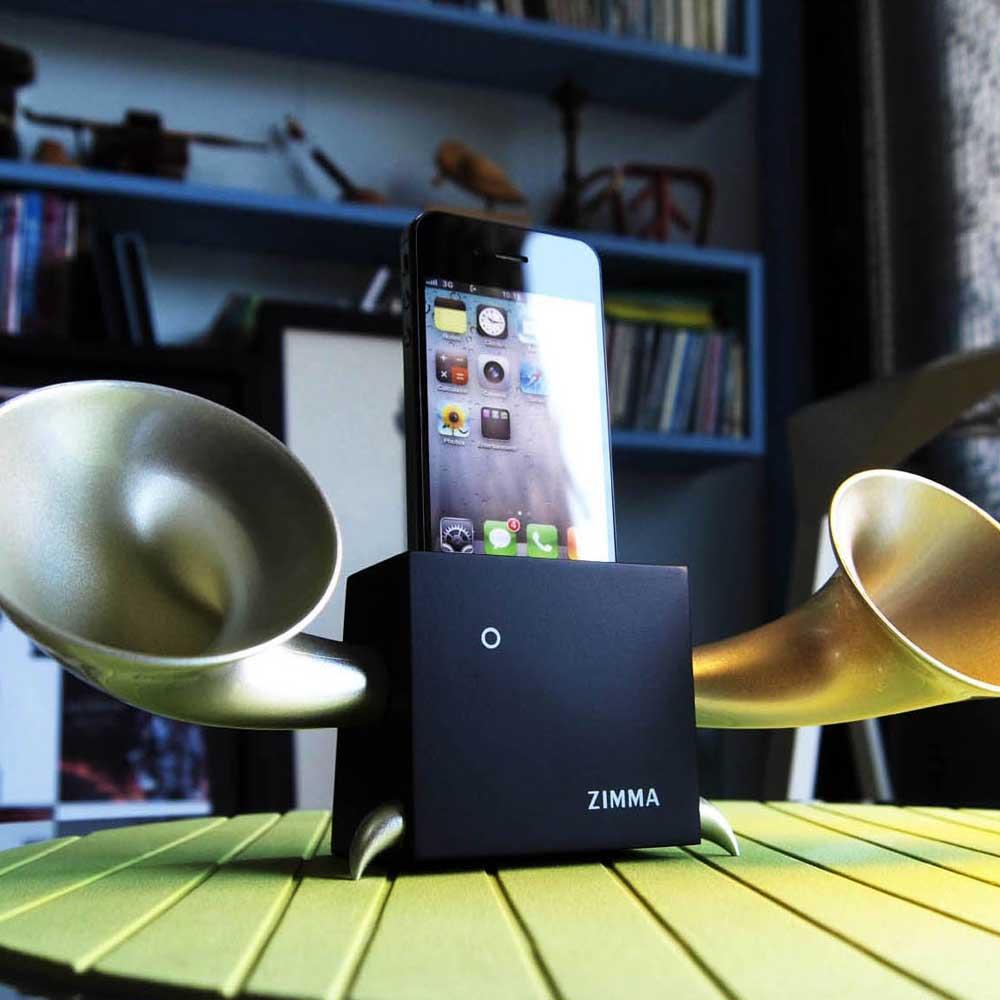 GeckoDesign ZIMMA 山毛櫸擴音器  for iPhoneSE /  i5系列 / i4系列 / iPod Touch 5(黑/銀)