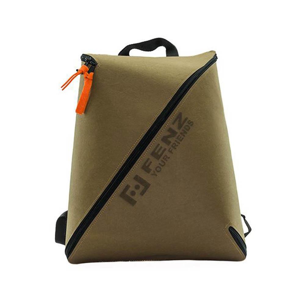 FENZ|超輕防潑濺 一體成形後背包 (麂皮淺棕色)