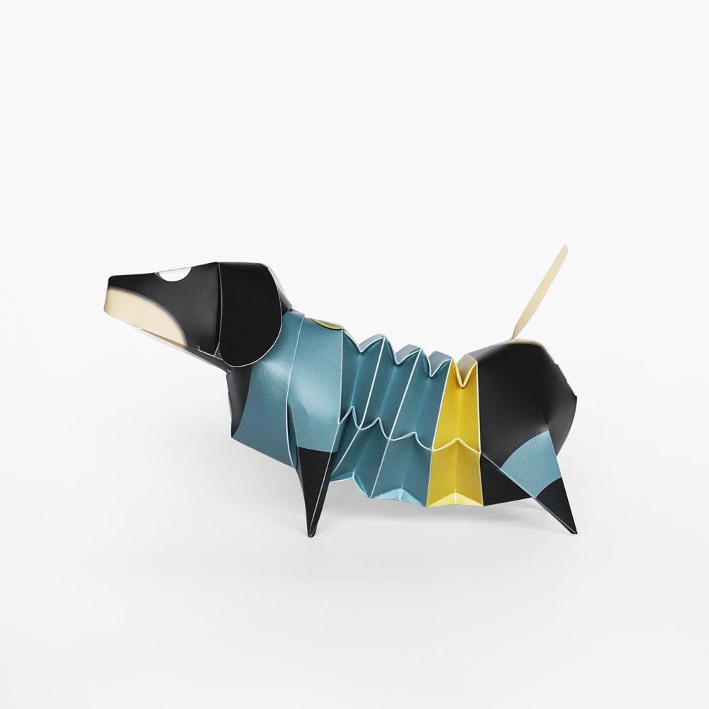 GeckoDesign 百變臘腸狗存錢筒系列 (蝙蝠俠 灰)