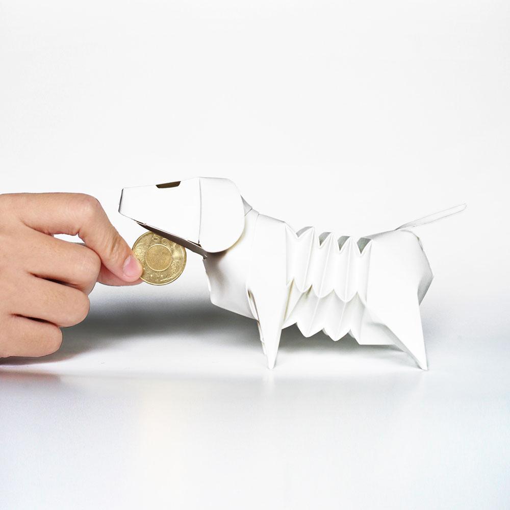 GeckoDesign|百變臘腸狗存錢筒系列 (蝙蝠俠 灰)