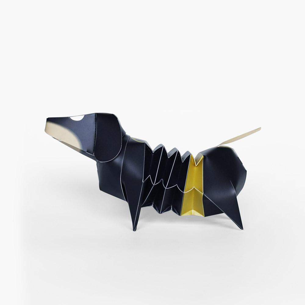 GeckoDesign 百變臘腸狗存錢筒系列 (蝙蝠俠 黑)