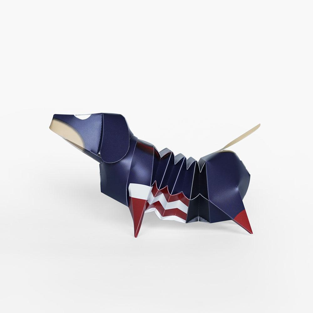 GeckoDesign|百變臘腸狗存錢筒系列 (美國隊長)