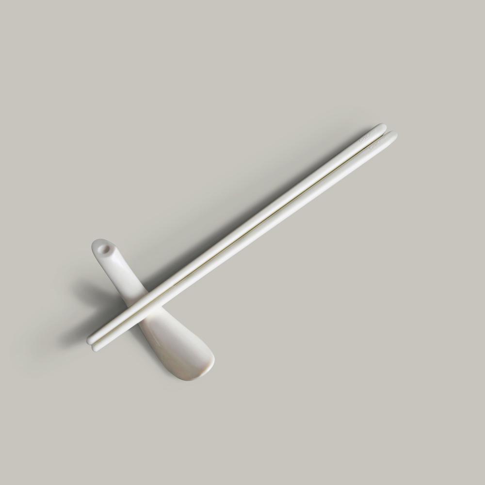 GeckoDesign Balanced 平衡箸筷架組 (摩登黑)