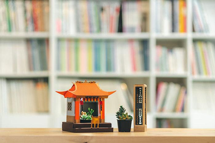 Fesc:l|LED植物燈 好運小神廟 x 招財符
