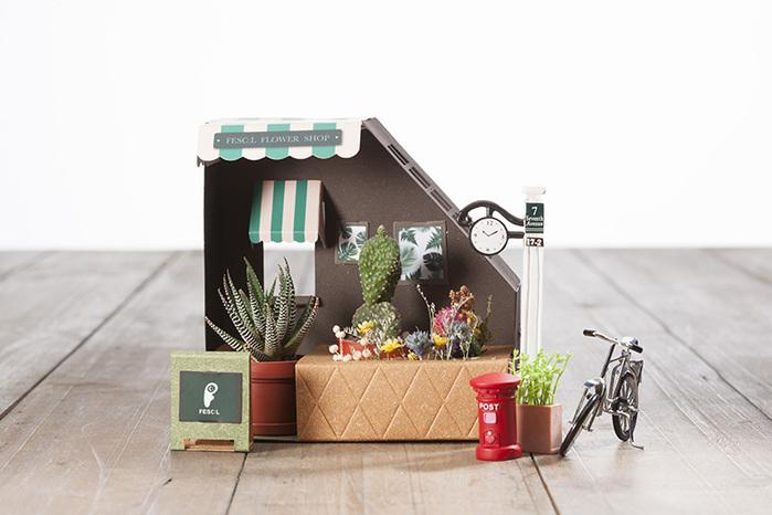 Fescl|Paper Garden LED 迷你植物燈/Hanaya