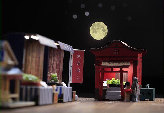 Fescl|Paper Garden LED 迷你植物燈/祈福神社