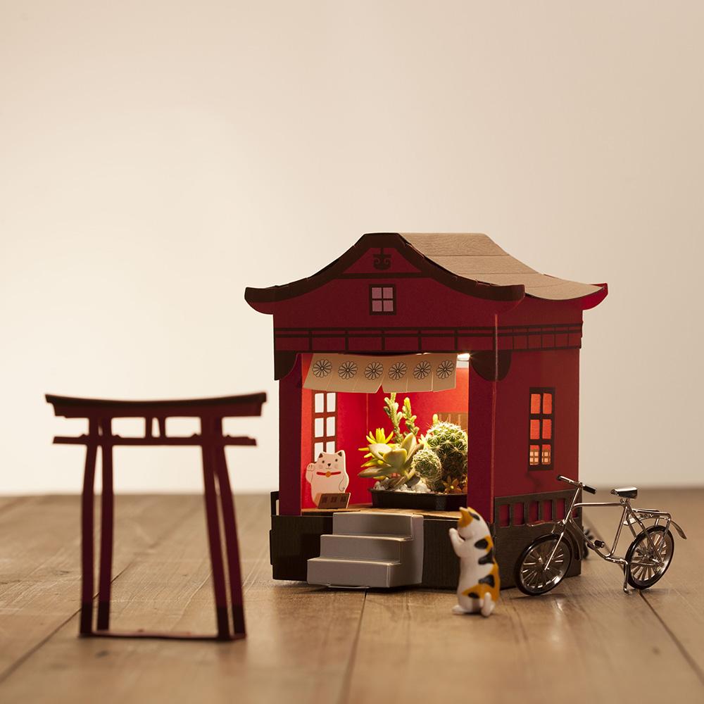 Fesc:l Paper Garden LED 迷你植物燈/祈福神社