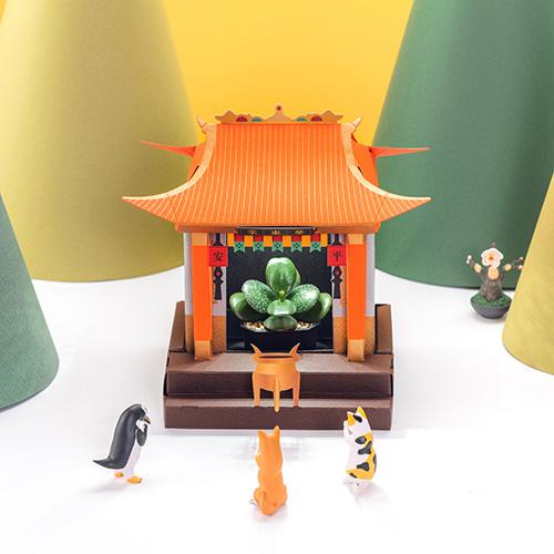 Fesc:l|LED植物燈 好運小神廟 x 金母保平安