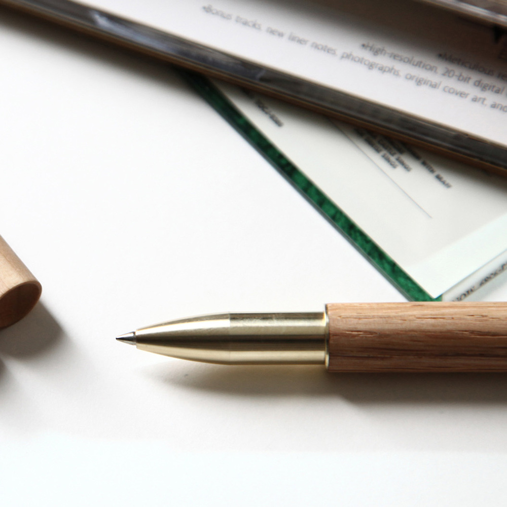 ISHUJA|now&then RETRO木系列-書寫觸控兩用筆(橡木)