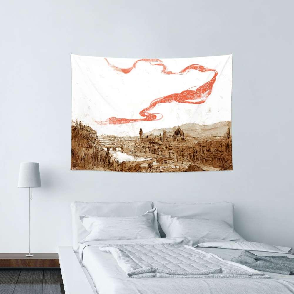 UMade|藝術家創作壁幔 -翡冷翠之歌 - 劉宜其 61Chi (150x112cm)