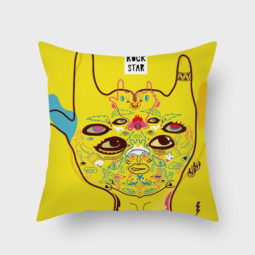 UMade|藝術家創作抱枕-帶上跟蹤客與搖滾 / 昂克魯 uncu (48x48cm)