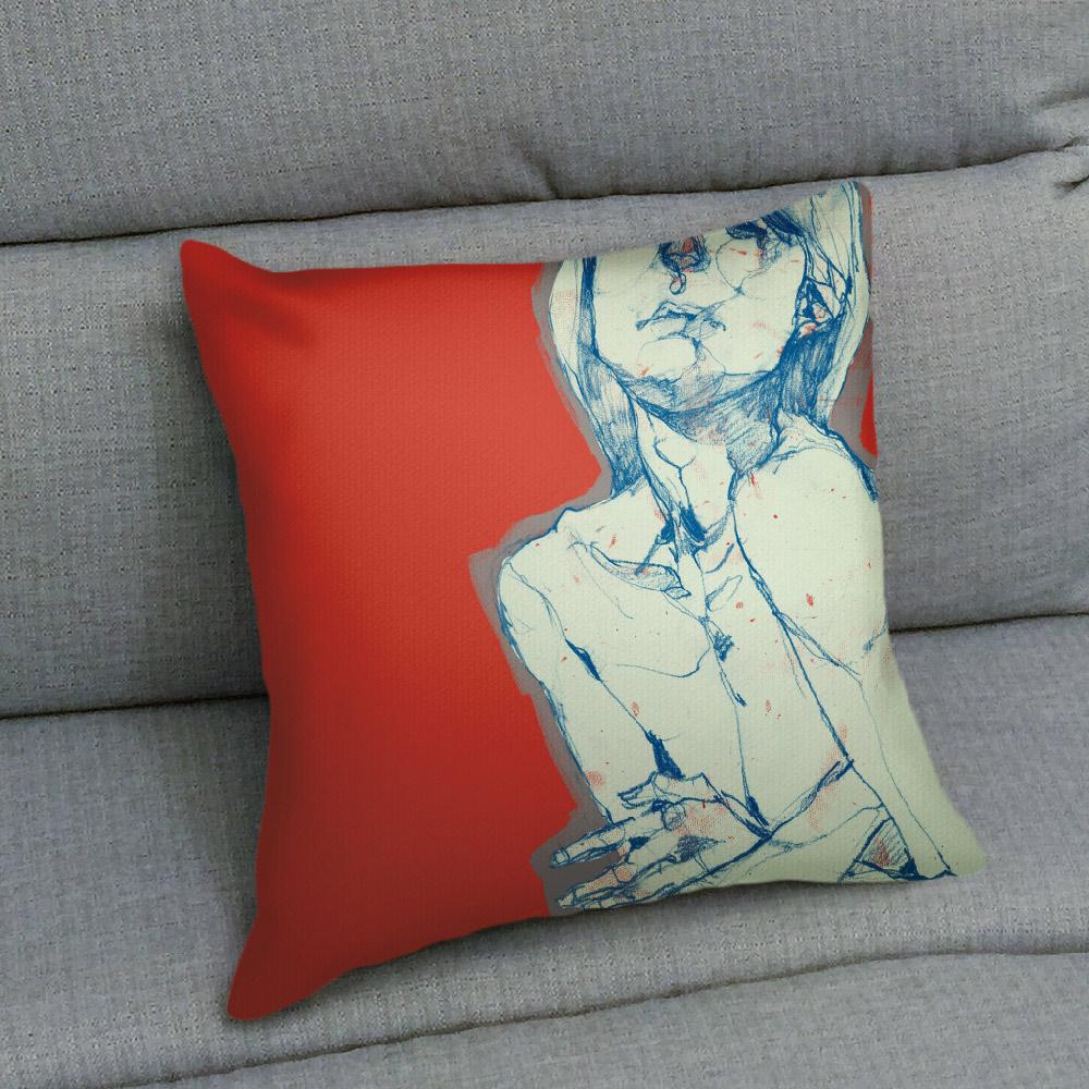 UMade|藝術家創作抱枕 -  THE MOOD─孤獨 - 劉宜其 61Chi (40x40cm)