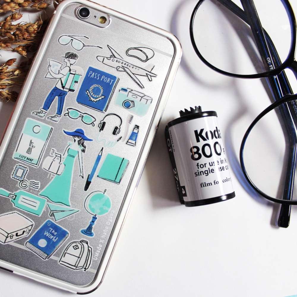 UMade|藝術家創作iPhone手機殼 -  旅行(透明款) - Naho Ogawa