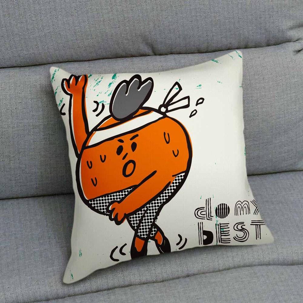 UMade|藝術家創作抱枕-Do My Best (orange) / Makoto Hidaka (48x48cm)