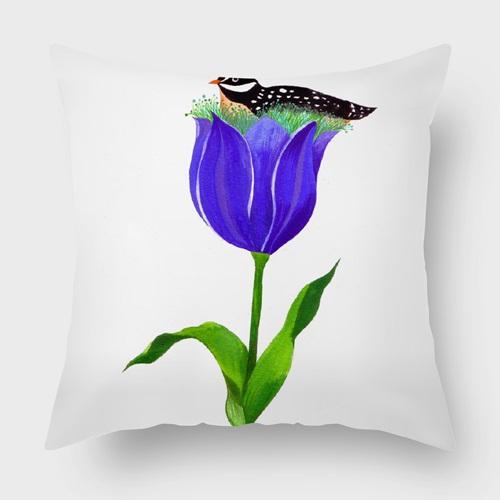 UMade|藝術家創作抱枕- 妳來自柔軟的鬱金香花瓣/ Chichi Huang(40x40cm)