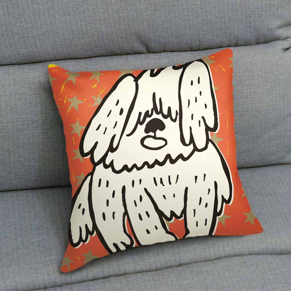 UMade|藝術家創作抱枕-牧羊犬 / Makoto Hidaka (48x48cm)