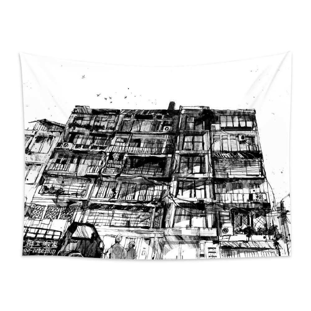 UMade|藝術家創作壁幔 -《房間》─公寓 - 劉宜其 61Chi  (150x112cm)