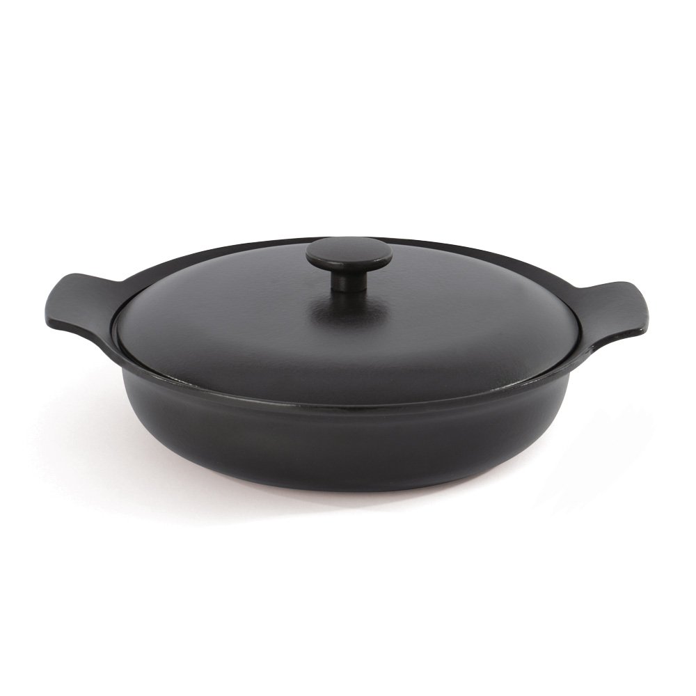 BergHOFF焙高福|Ron羅恩尊爵黑鑄鐵雙耳平底鍋28CM
