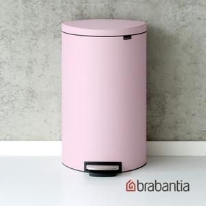 Brabantia|Flatback半月腳踏式垃圾桶30L粉紅色