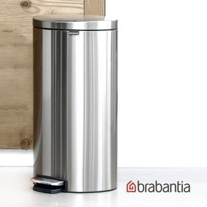 Brabantia|Flatback半月腳踏式垃圾桶30L-防指紋