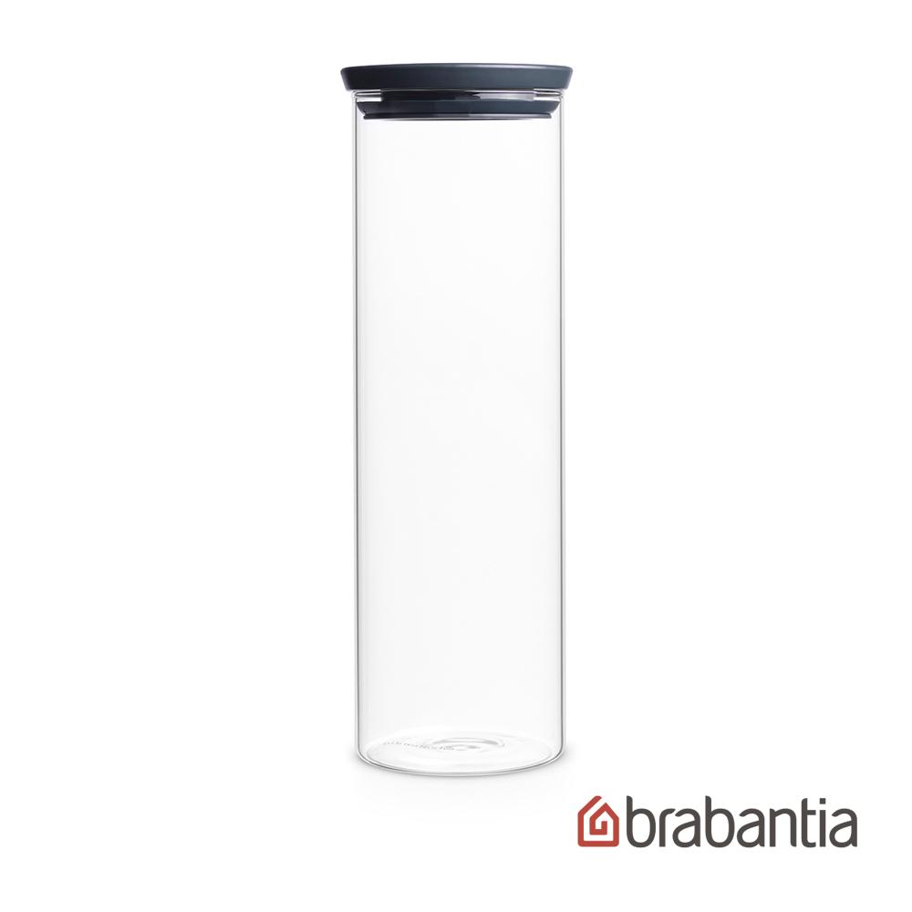 Brabantia|玻璃食物黑蓋儲存罐1.9L