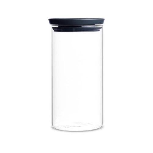 Brabantia|玻璃食物黑蓋儲存罐1.1L