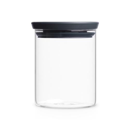 Brabantia|玻璃食物黑蓋儲存罐0.7L