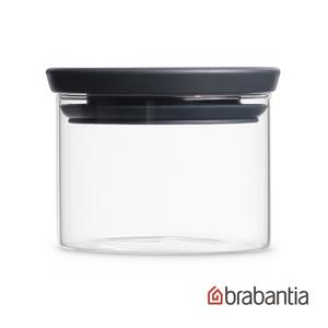 Brabantia|玻璃食物黑蓋儲存罐0.3L