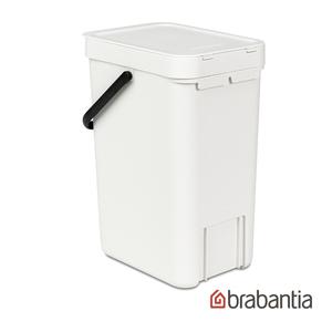 Brabantia 多功能餐廚置物桶12L-白色